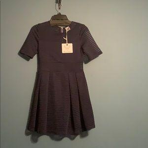 Navy Short Sleeved Dress